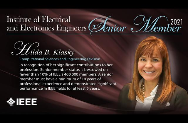 Hilda Klasky IEEE Senior Fellow Computer Sciences and Engineering